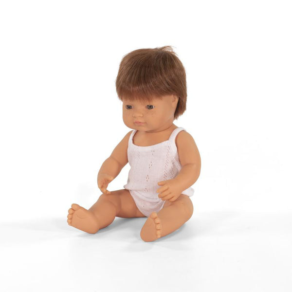 Miniland Anatomically correct baby doll 38cm - Red hair Caucasian / Boy