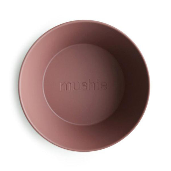 Mushie Dinner Bowls (2 pack) Round /  Woodchuck