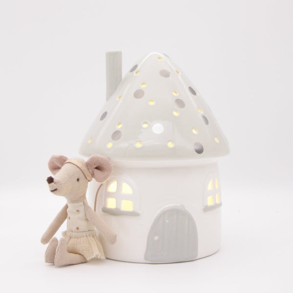 Elfin House Night Light - Grey / Battery operated