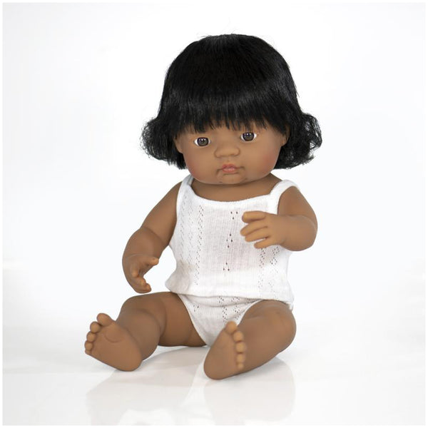 Miniland Anatomically correct doll 38cm - Hispanic / Girl