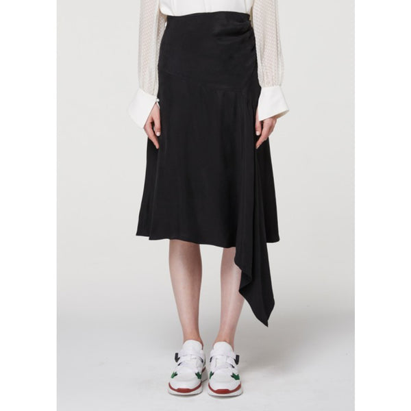 Berkeley Drape midi skirt - Black