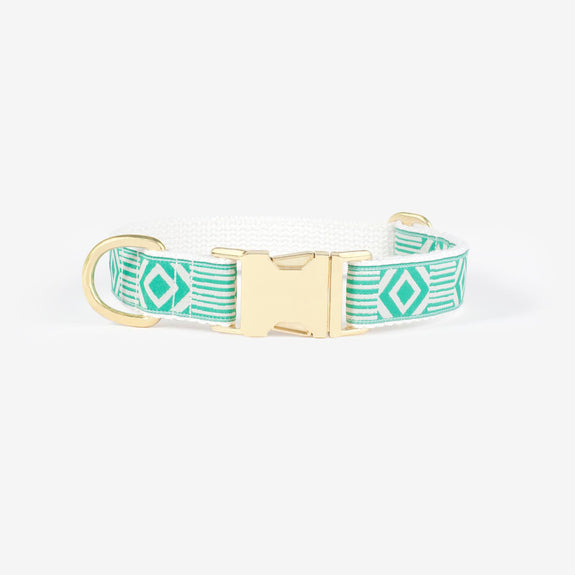 Out of the Box - Teal & cream Collar