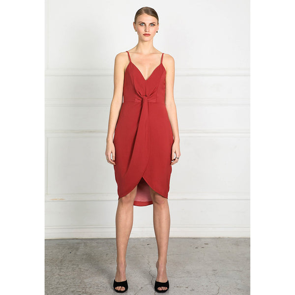 Obtain Knot Singlet Dress - Terracotta
