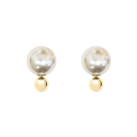 Pearl Gold Bubble studs