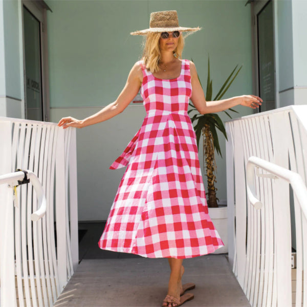 Bobbi Dress - Raspberry Check