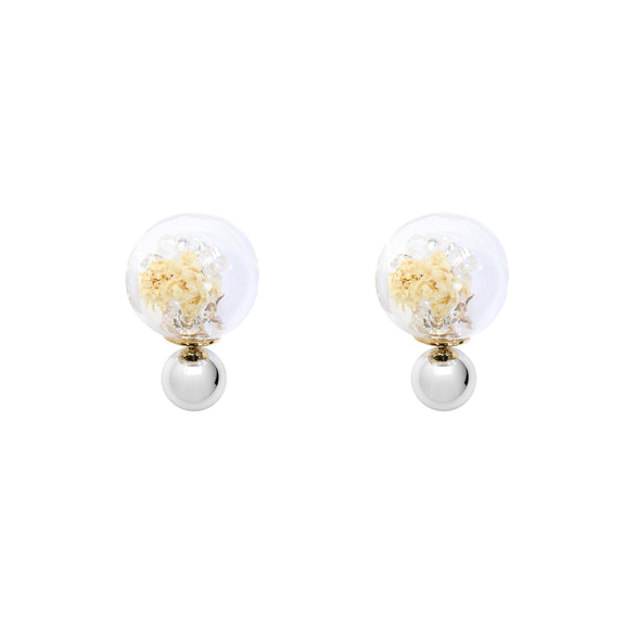 Fantasy Bubble Studs Flower white/silver
