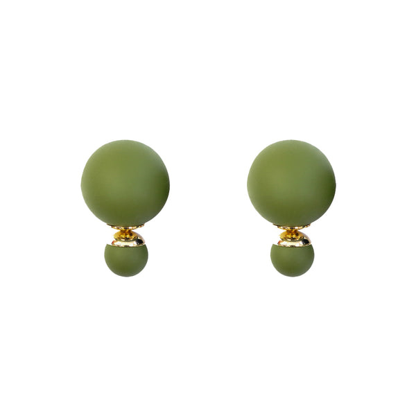 Olive green bubble Studs