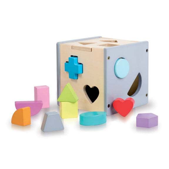 Sassi Wooden sorting Box & Book - Shapes