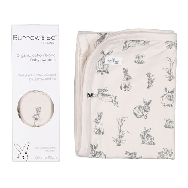 Almond Burrowers Stretch Swaddle