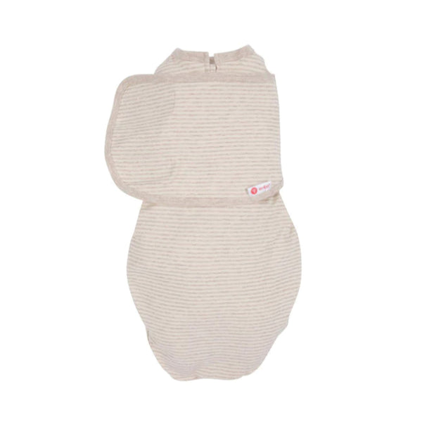 Embe Starter 2 way swaddle - Oatmeal Stripe