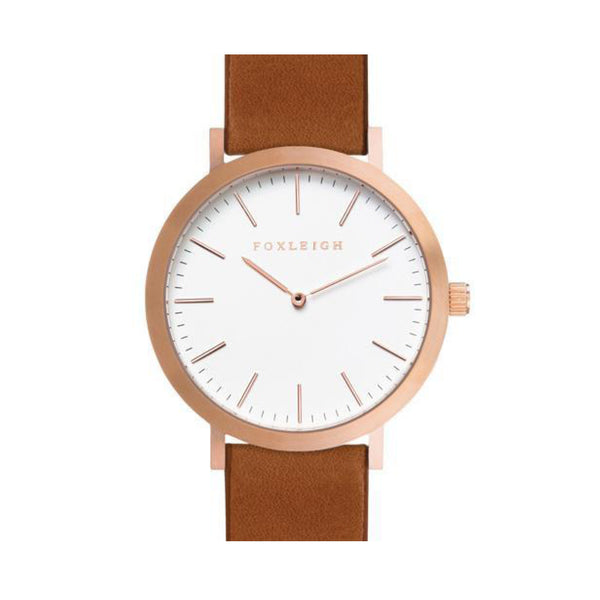 Rose Gold & Tan Timepiece