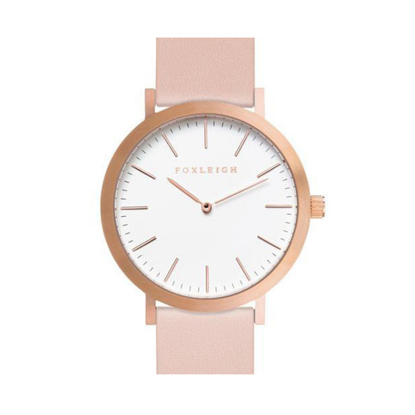 Rose Gold & Peach Leather Timepiece