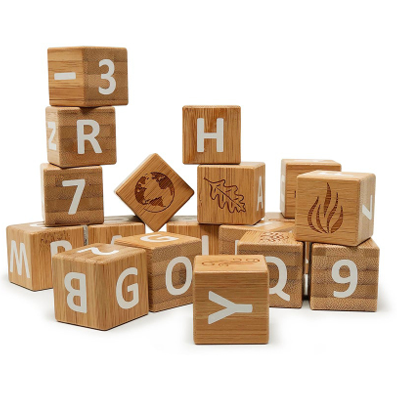 Bamboo ABC Blocks