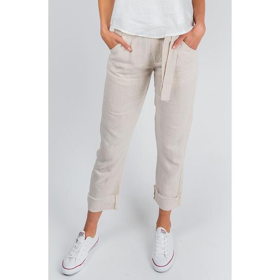 Tailored Linen Pant - Oatmeal