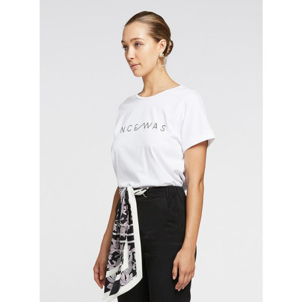 Legend Logo Tee - White/Black Sequins