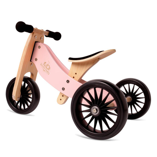 Kinderfeet Tiny Tot Plus 2 in 1 trike - Rose