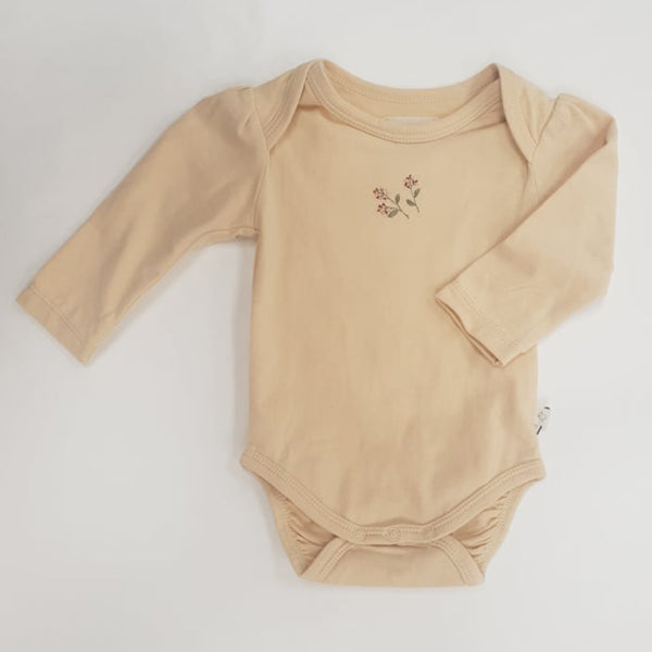 Embroidered LS Bodysuit - Honey
