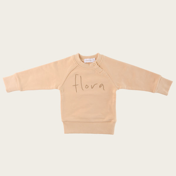 PREORDER // Flora Sweatshirt - Honey Peach