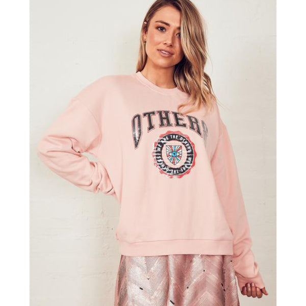 The Vintage Sweat - Pink/ Others Varsity