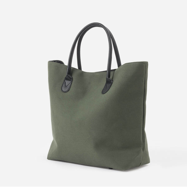 Canvas Shopping Bag - Olive