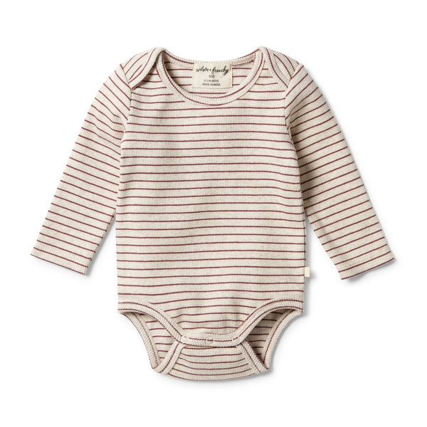 Wilson and Frenchy Wild Ginger Stripe Rib Bodysuit