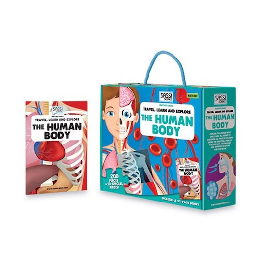 Sassi Book + Puzzle - The human Body