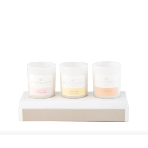 Mini Candle Set - Coconut Lime, Vintage Gardenia, Watermelon