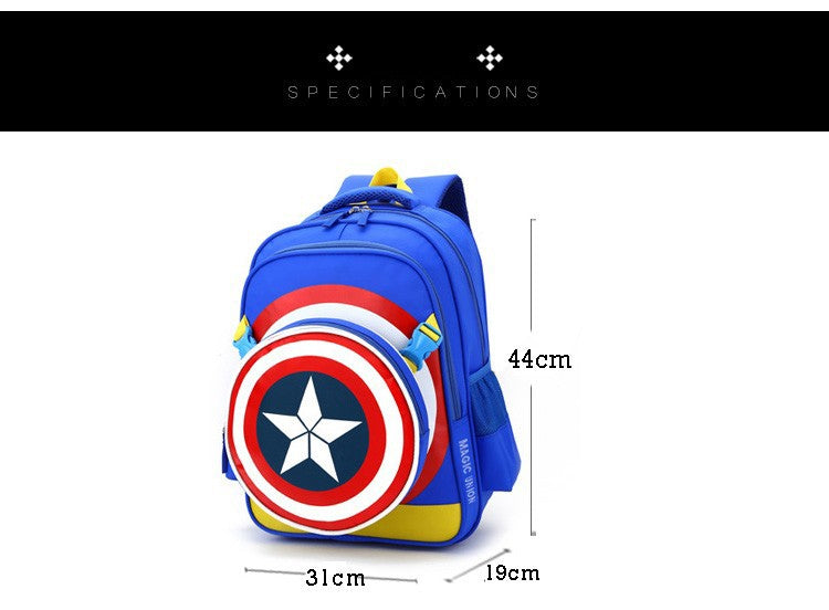 captain america themed large school backpack for boys 2 colors