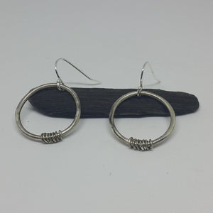 Hooped Circle Earrings