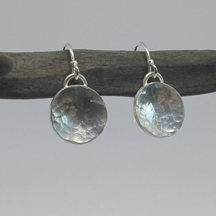 Dome Drop Planished Earrings