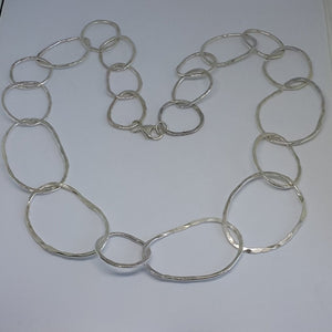 Planished Link Collar Necklace