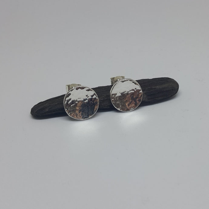 Dome Stud Planished Earrings