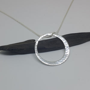 Planished Circle Necklace