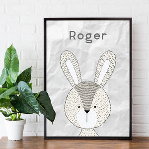 Personalised Animal Print - Rabbit