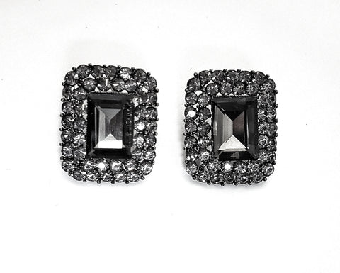 Earrings Charcoal Queen stud earrings - Living in Style with Olga