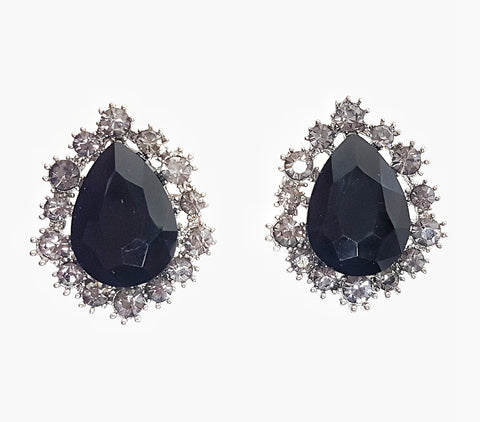 Earrings Midnight Gem stud earrings - Living in Style with Olga