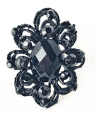 Rings Midnight Flower Ring - Living in Style with Olga