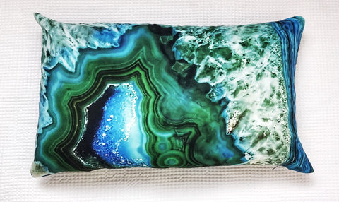 Home Decor Green Malachite Quartz small accent cushion - Living in Style with Olga