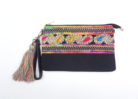 Tassel Vintage clutch bag.