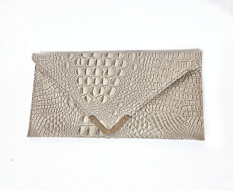 Eco Alligator clutch bag.