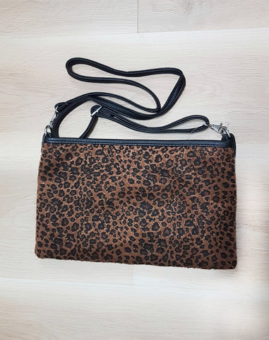 Cheetah clutch bag.