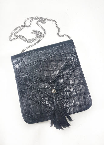 Tassel envelope clutch bag