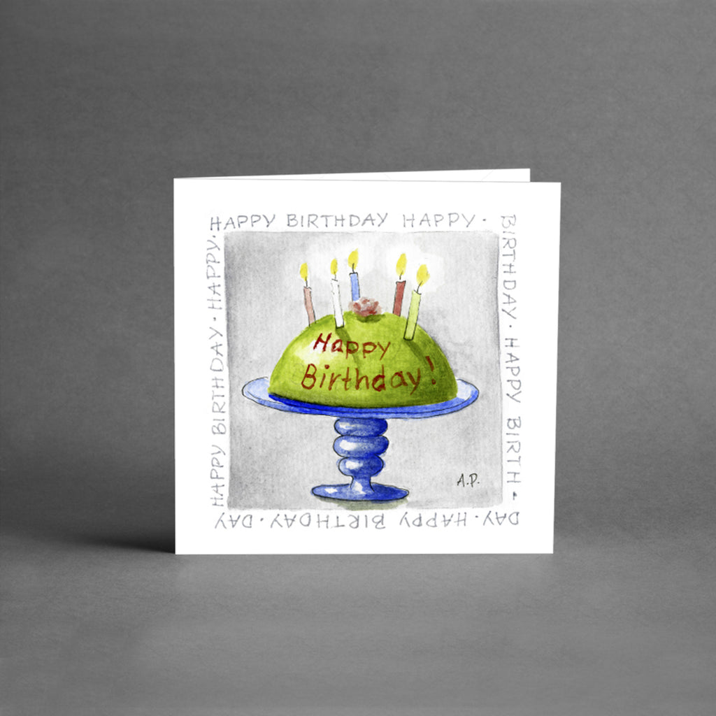 Små kort - Happy Birthday tårta [25-pack]