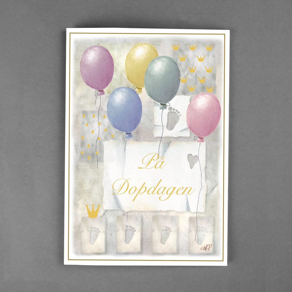 Floral Card Greeting Nyarskort Birthday