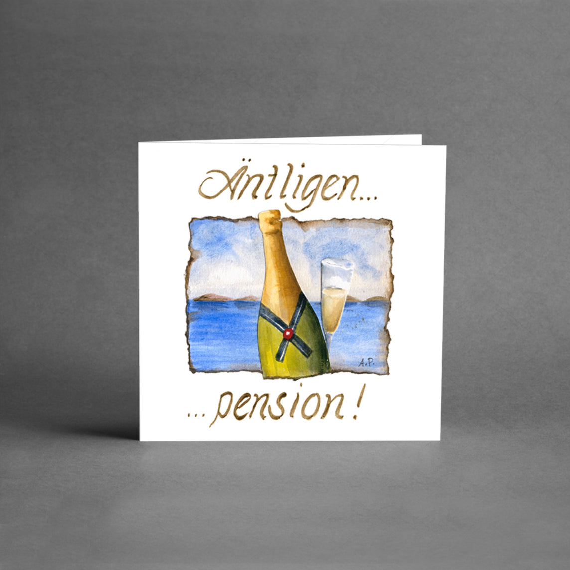 pension gratulationskort Små kort   Äntligen pension champagne [25 pack] – Card Store AB pension gratulationskort