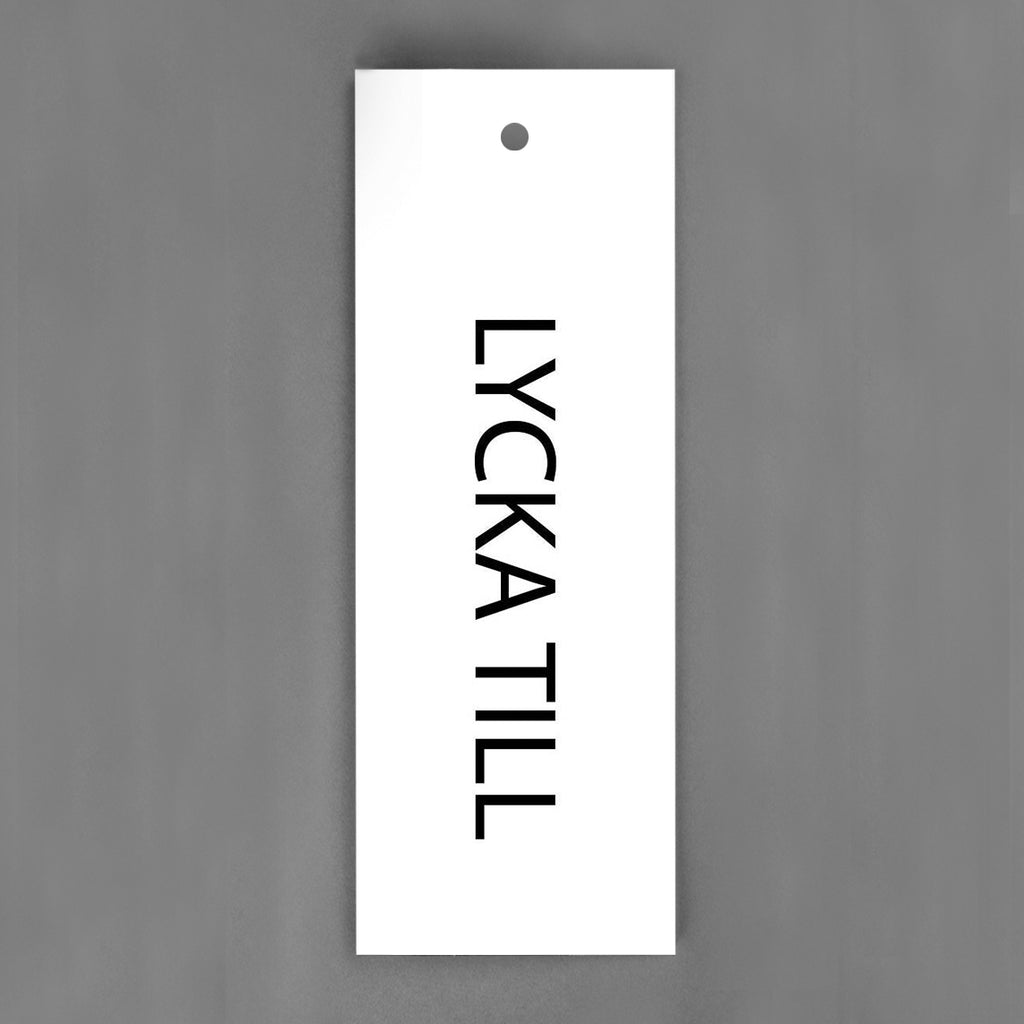 HANG-TAGS Collection - Lycka till vit och svart [30-pack]