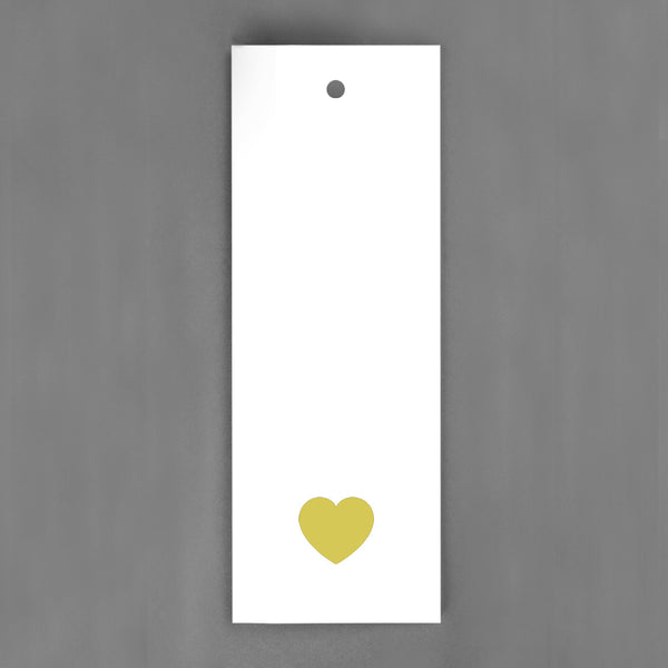 HANG-TAGS Collection - Guld hjärta [30-pack]