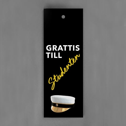 HANG-TAGS Collection - Studentkort svart guld [30-pack]