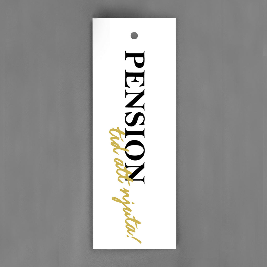 HANG-TAGS Collection - Pensionskort  [30-pack]