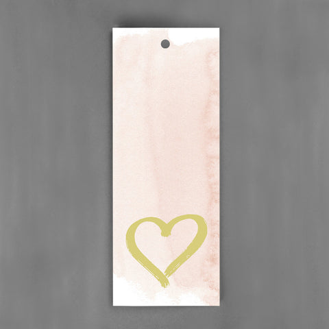 HANG-TAGS Collection - Guld hjärta rosa [30-pack]